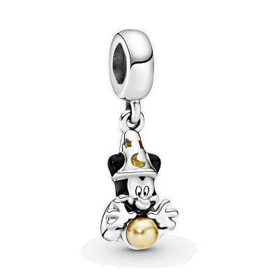PANDORA  DISNEY SORCERER MICKEY ENAMEL DANGLE