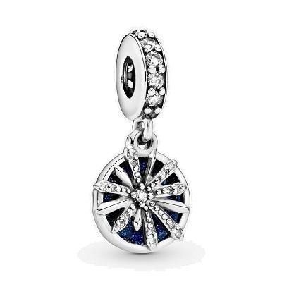 PANDORA DAZZLING WISHES CZ & BLUE ENAMEL DANGLE - Appelt's Diamonds