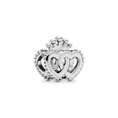 PANDORA  CROWN & INTERTWINED HEARTS CHARM - Appelt's Diamonds