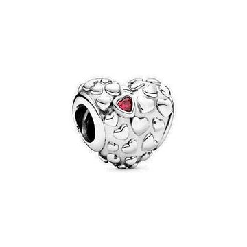 PANDORA  MOM IN A MILLION RED CZ BEAD