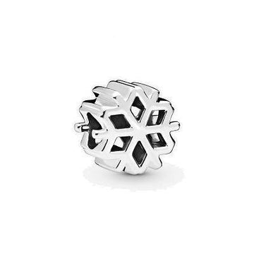 PANDORA  POLISHED SNOWFLAKE BEAD