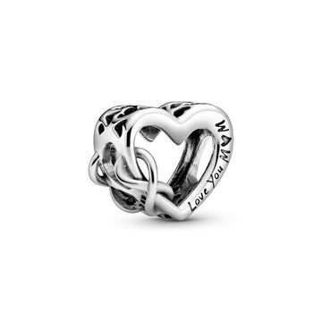 PANDORA LOVE YOU MOM INFINITY HEART CHARM