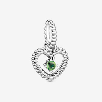 PANDORA HEART WITH SPRING GREEN CRYSTAL CHARM