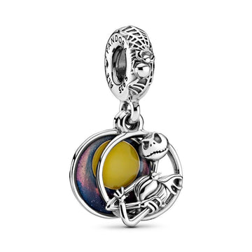 PANDORA DISNEY NIGHTMARE BEFORE CHRISTMAS DOUBLE DANGLE CHARM