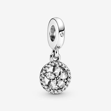 PANDORA SPARKLING SNOWFLAKE CIRCLE DANGLE CHARM