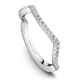 NOAM CARVER WEDDING BAND B004-03WA-100B