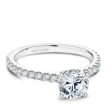 NOAM CARVER 14K WHITE GOLD MOISSANITE ENGAGEMENT RING