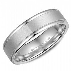 CROWN RING GENTLEMANS WEDDING BAND BR-6925