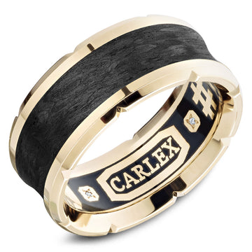 18KY CARLEX GENTS BAND - CX4-0013Y-S