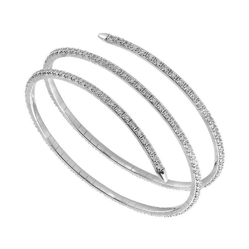 14KW EMBRACE BANGLE WRAP BRACELET- FSBG5003S8W