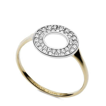 FOSSIL TWO TONED OPEN CIRCLE RING