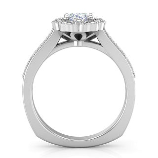 EMPRESS OVAL DIAMOND WITH HALO ENGAGEMENT RING L7813-OV
