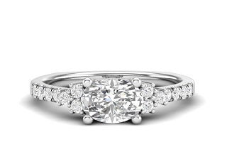 PRINCESS OVAL ENGAGEMENT RING L8410-E