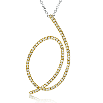 18KY SIMON G GOLD AND DIAMOND TWIST NECKLACE