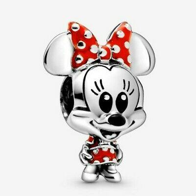 PANDORA DISNEY MINNIE MOUSE DOTTED DRESS & BOW CHARM