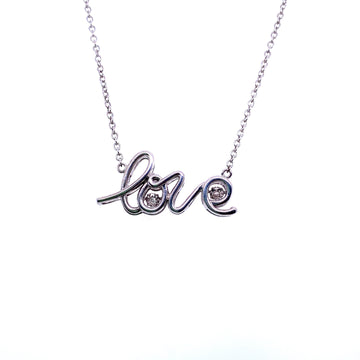 PULSE SILVER LOVE NECKLACE