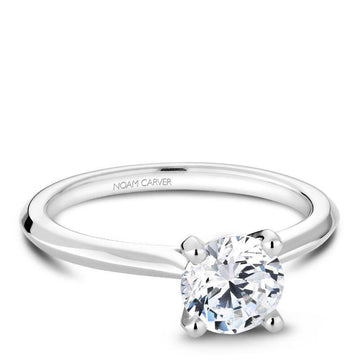 NOAM CARVER 14K GOLD DIAMOND SOLITAIRE ENGAGEMENT RING