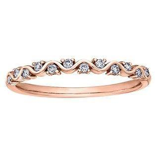 10K ROSE GOLD 0.12CTW DIAMOND RING