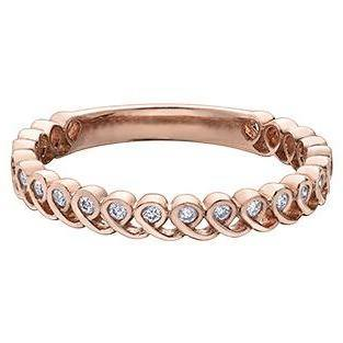 10K ROSE GOLD 0.08 CTW DIAMOND RING