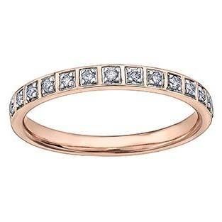 10K ROSE GOLD 0.14CTW DIAMOND RING