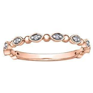 10K ROSE GOLD 0.06CTW DIAMOND RING