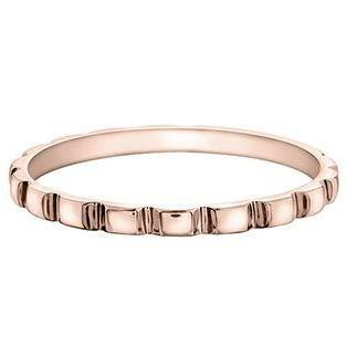 10K ROSE GOLD INDENTED RING