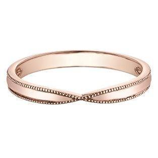 10K ROSE GOLD MILGRAIN RING