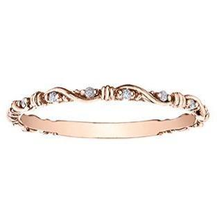 10K ROSE GOLD 0.04CTW DIAMOND RING