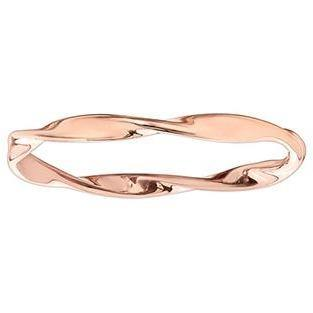 10K ROSE GOLD TWIST RING