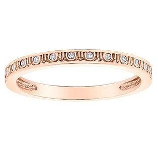 10K ROSE GOLD 0.05CTW DIAMOND RING