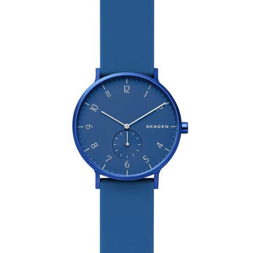 SKAGEN GENTS BLUE & WHITE DIAL BLUE SILICONE STRAP SKW6508