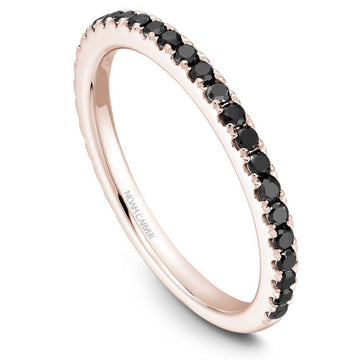 CLASSIC NOAM CARVER STACKABLE WEDDING RING WITH 29 BLACK DIAMONDS - Appelt's Diamonds