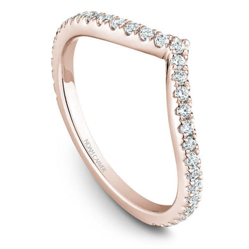 TEARDROP NOAM CARVER WEDDING RING WITH 33 DIAMONDS