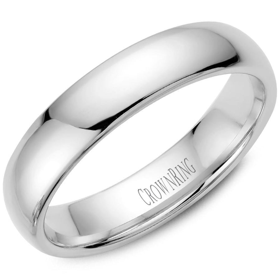TRADITIONAL WEDDING BAND DOMED 14KW (SIZE 4 - 9)