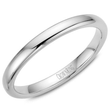 TRADITIONAL WEDDING BAND SUPREME COMFORT 14KW (SIZE 9 - 15)