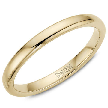 TRADITIONAL WEDDING BAND SUPREME COMFORT 14KY (SIZE 9 - 15)