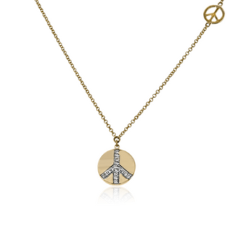 14K ZEGHANI PEACE NECKLACE - Appelt's Diamonds