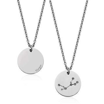 STEELX VIRGO CONSTELLATION NECKALCE