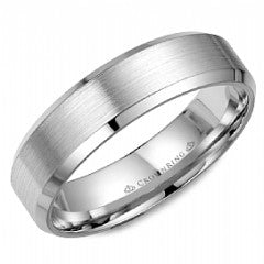 CROWN RING GENTLEMANS WEDDING BAND WB-7007-U