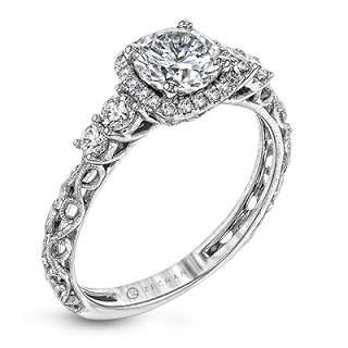 ZEGHANI 14K ENGAGEMENT RING ZR1500