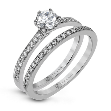 ZEGHANI 14KW ENGAGEMENT RING  ZR1529
