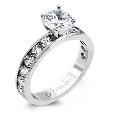 ZEGHANI 14K CHANNEL SET BAND ENGAGEMENT RING