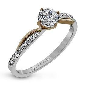ZEGHANI 14KWR ENGAGEMENT RING  ZR1729