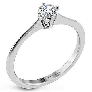 ZEGHANI 14KW SOLITAIRE ENGAGEMENT RING ZR1796
