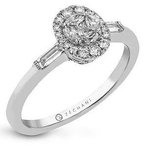 ZEGHANI 14KWY ENGAGEMENT RING ZR1840