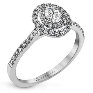 ZEGHANI 14K ENGAGEMENT RING  ZR1869