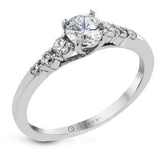 ZEGHANI 14K THREE-STONE ENGAGEMENT RING - Appelt's Diamonds