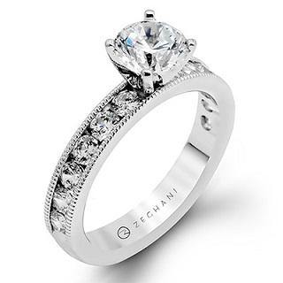 ZEGHANI 14K ENGAGEMENT RING ZR47-A