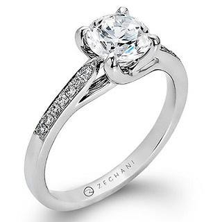 ZEGHANI 14K ENGAGEMENT RING ZR561