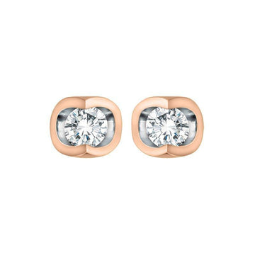 FOREVER JEWELLERY 10K ROSE AND WHITE GOLD DIAMOND STUD EARRINGS - Appelt's Diamonds